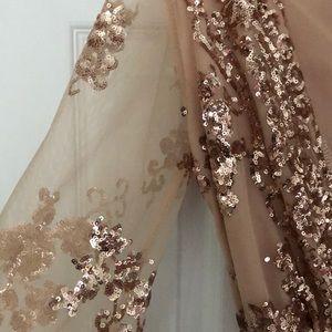 Reverse Other - Reverse Rose Gold Sequin Romper